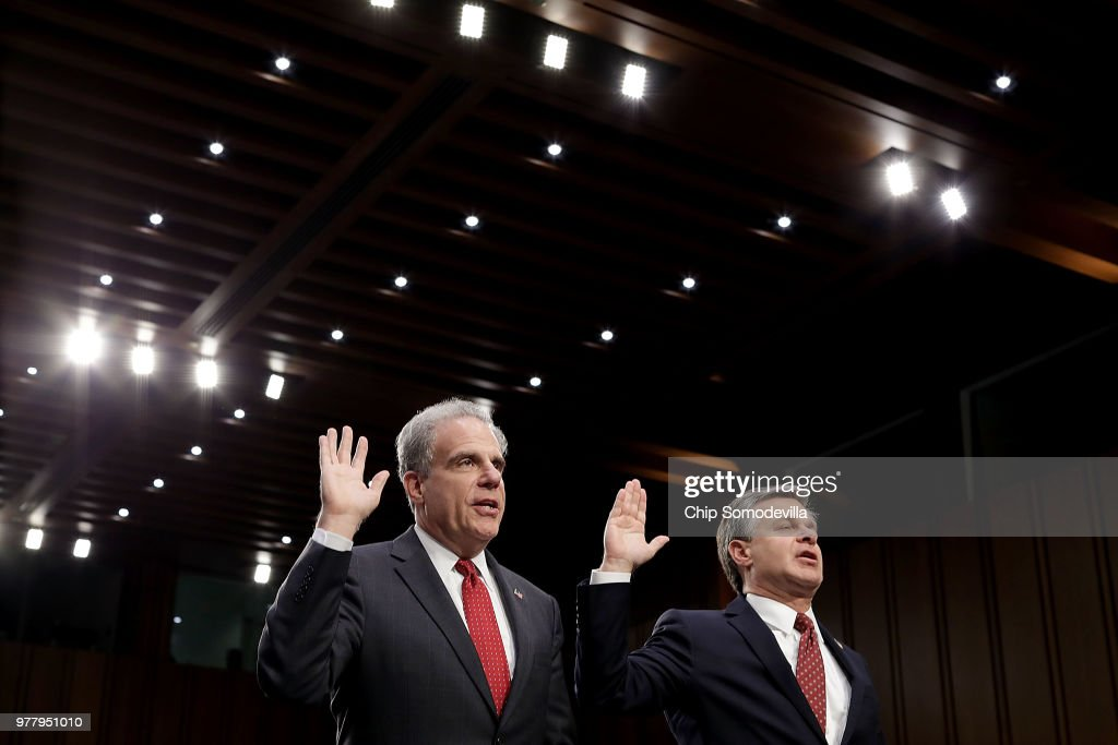 FBI Director Wray And Justice IG Horowitz Testify At Senate Hearing On FBI Report