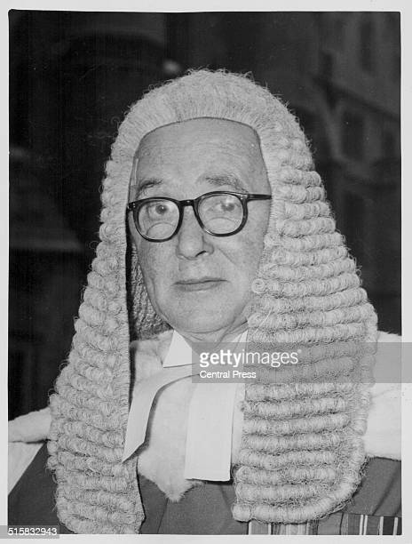 Justice Gorman arriving to preside over the trial of James Hanratty accused of the A6 murder January 22nd 1962