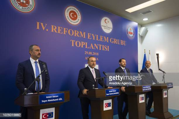 Justice Minister Abdulhamit GulForeign Minister Mevlut Cavusoglu Treasury and Finance Minister Berat Albayrak and Interior Minister Suleyman Soylu...