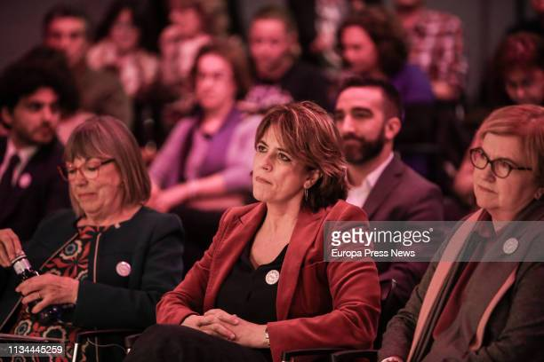Justice minister Dolores Delgado is seen in the act 'The Spain we want is feminist' in Casa de América on March 07 2019 in Madrid Spain