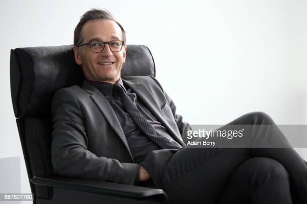 Justice Minister Heiko Maas arrives for the weekly German federal Cabinet meeting on May 24 2017 in Berlin Germany High on the meeting's agenda was...