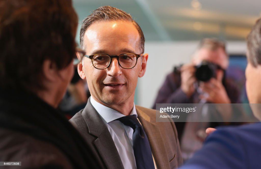 Justice Minister Heiko Maas (SPD) arrives for the weekly German federal Cabinet meeting on September 13, 2017 in Berlin, Germany. High on the meeting's agenda was discussion of regional infrastructure.