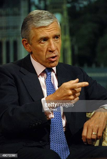 Justice Minister Jack Straw appearing on The Andrew Marr Show