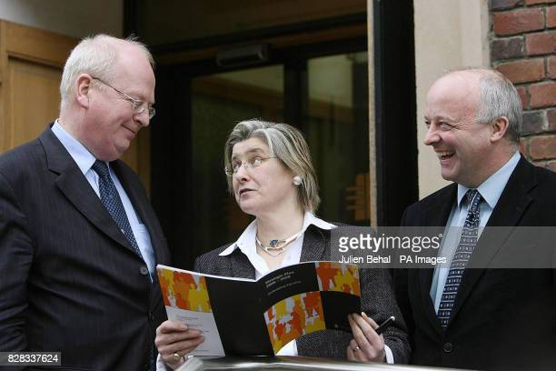 Justice Minister Michael McDowell chair of the Equality Authority Karen Erwin and authority CEO Niall Crowley outside the Equality Authority offices...