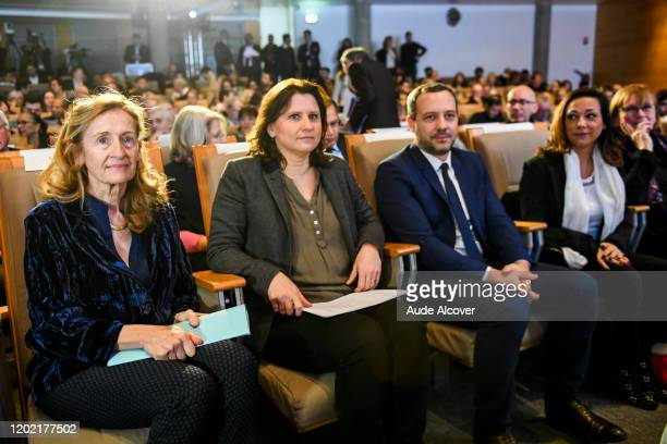 Justice minister Nicole BELLOUBET Sports minister Roxana MARACINEANU State Secretary for Child Protection Adrien TAQUET Sarah ABITBOL and MarieGeorge...