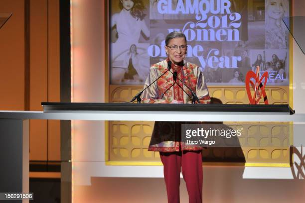 Justice Ruth Bader Ginsburg speaks onstage at the 22nd annual Glamour Women of the Year Awards at Carnegie Hall on November 12 2012 in New York City