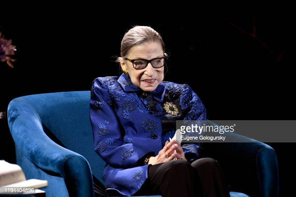 Justice Ruth Bader Ginsburg speaks onstage at the Fourth Annual Berggruen Prize Gala celebrating 2019 Laureate Supreme Court Justice Ruth Bader...