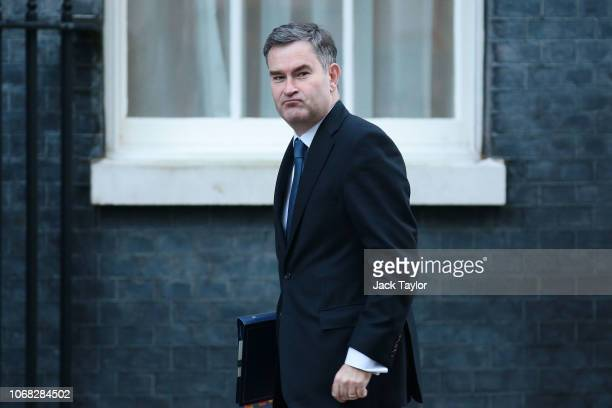Justice Secretary David Gauke arrives at 10 Downing Street as Ministers attend a weekly cabinet meeting ahead of a meaningful vote debate on the...