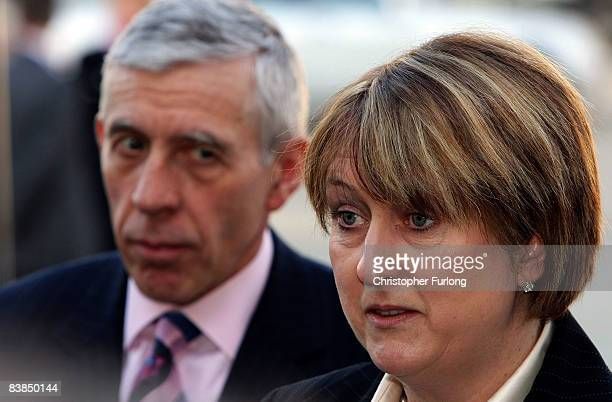 Justice Secretary Jack Straw and Home Secretary Jacqui Smith arrive for the weekly Cabinet meeting at the Royal Armouries on November 28 Leeds...