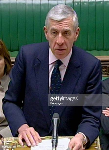 Justice Secretary Jack Straw makes a statement about the return to prison of James Bulger's killer Jon Venables at the House of Commons central London