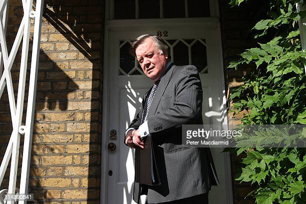 Justice Secretary Kenneth Clarke leaves home on May 19, 2011 in London, England. Mr Clarke is facing criticism over his comments on rape during a...