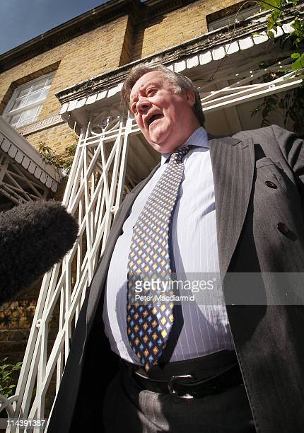 Justice Secretary Kenneth Clarke talks to reporters as he leaves home on May 19, 2011 in London, England. Mr Clarke is facing criticism over his...