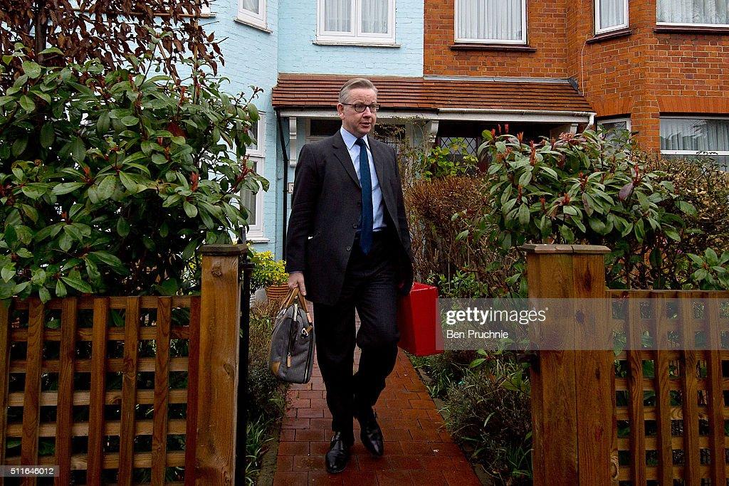 Michael Gove Departs His London Home : News Photo