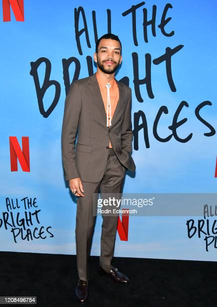Justice Smith attends a Special Screening of Netflix's All The Bright Places at ArcLight Hollywood on February 24 2020 in Hollywood California