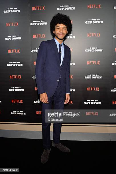 Justice Smith attends The Get Down New York premiere at Lehman Center For The Performing Arts on August 11 2016 in the Bronx borough of New York City