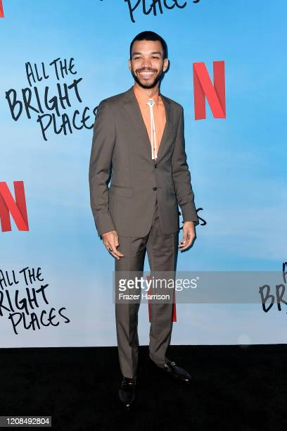 Justice Smith attends the Special Screening of Netflix's All The Bright Places at ArcLight Hollywood on February 24 2020 in Hollywood California