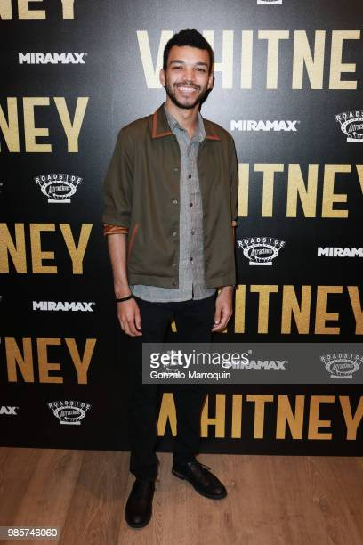 Justice Smith during the Whitney New York Screening Arrivals at the Whitby Hotel on June 27 2018 in New York City