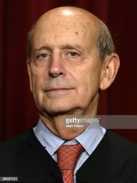 Justice Stephen G. Breyer poses for photographers at the U.S. Supreme Court October 31, 2005 in Washington DC. Earlier in the day U.S. President...