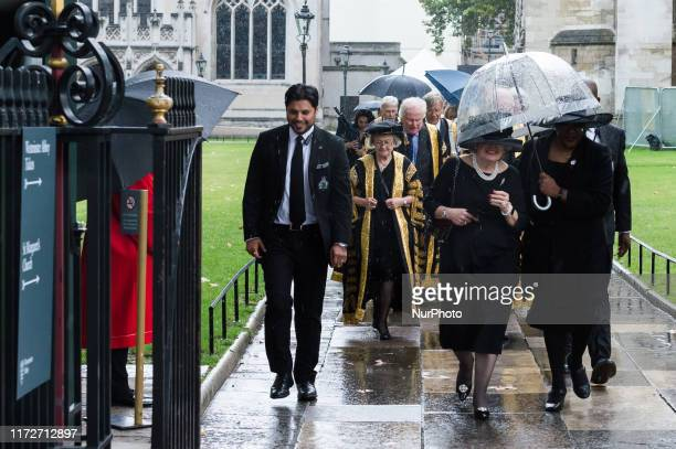 Justices of the Supreme Court including President of the Supreme Court Baroness Hale of Richmond attend the annual Judges Service at the Westminster...