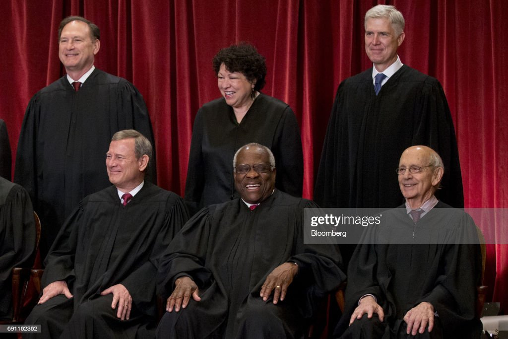 U.S. Supreme Court Justices Sit For Their Official Photograph : News Photo