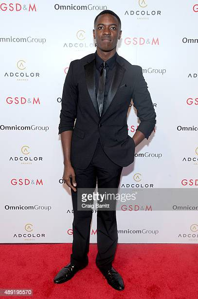 Justin Adu Rising Star Nominee Creative Lead Open Channels Group PR attends the 9th Annual ADCOLOR Awards at Pier 60 on September 19 2015 in New York...