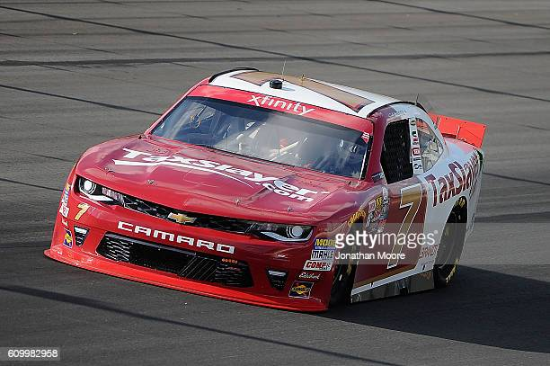 Justin Allgaier driver of the TaxSlayercom Chevrolet on track during practice for the NASCAR XFINITY Series VysitMyrtleBeachcom 300 at Kentucky...