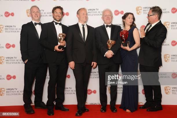 Justin Anderson Fredi Devas Tom HughJones Mike Gunton Elizabeth White and Alan Carr winners of the Virgin TV MustSee Moment for 'Planet Earth II...