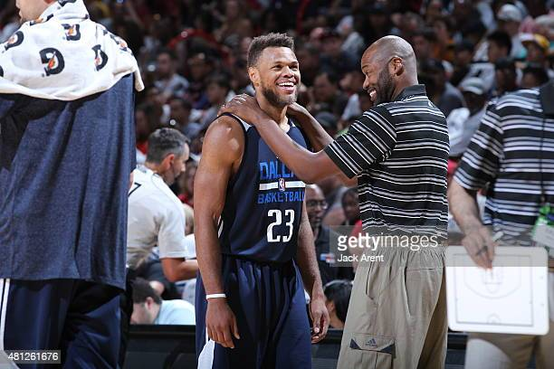 Justin Anderson of the Dallas Mavericks during the game agianst the Atlanta Hawks on July 18 2015 at Thomas And Mack Center Las Vegas Nevada NOTE TO...