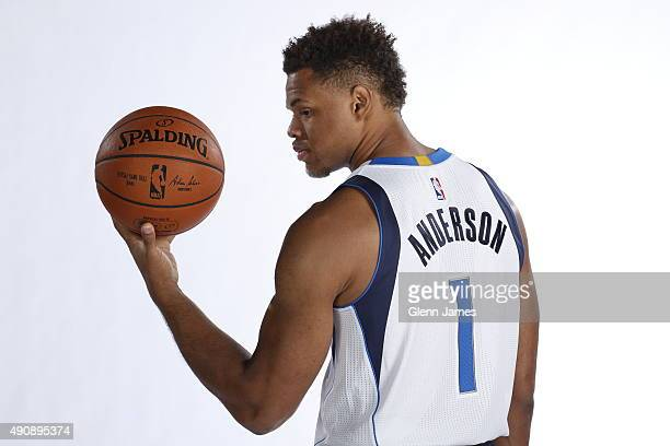 Justin Anderson of the Dallas Mavericks poses for a photo during media day on September 28 2015 at the American Airlines Center in Dallas Texas NOTE...