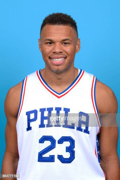 Justin Anderson of the Philadelphia 76ers poses for a head shot at the Wells Fargo Center on March 17 2017 in Philadelphia Pennsylvania NOTE TO USER...