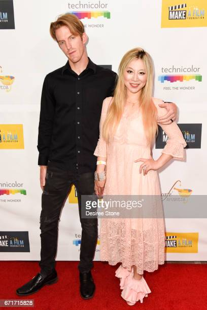 Justin Aoki and Alice Aoki attend the Premiere of 'The Black Ghiandola' hosted by Make A Film Foundation at Samuel Goldwyn Theater on April 22 2017...