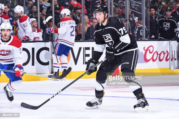 Justin Auger of the Los Angeles Kings skates on ice during a game against the Montreal Canadiens at STAPLES Center on October 18 2017 in Los Angeles...