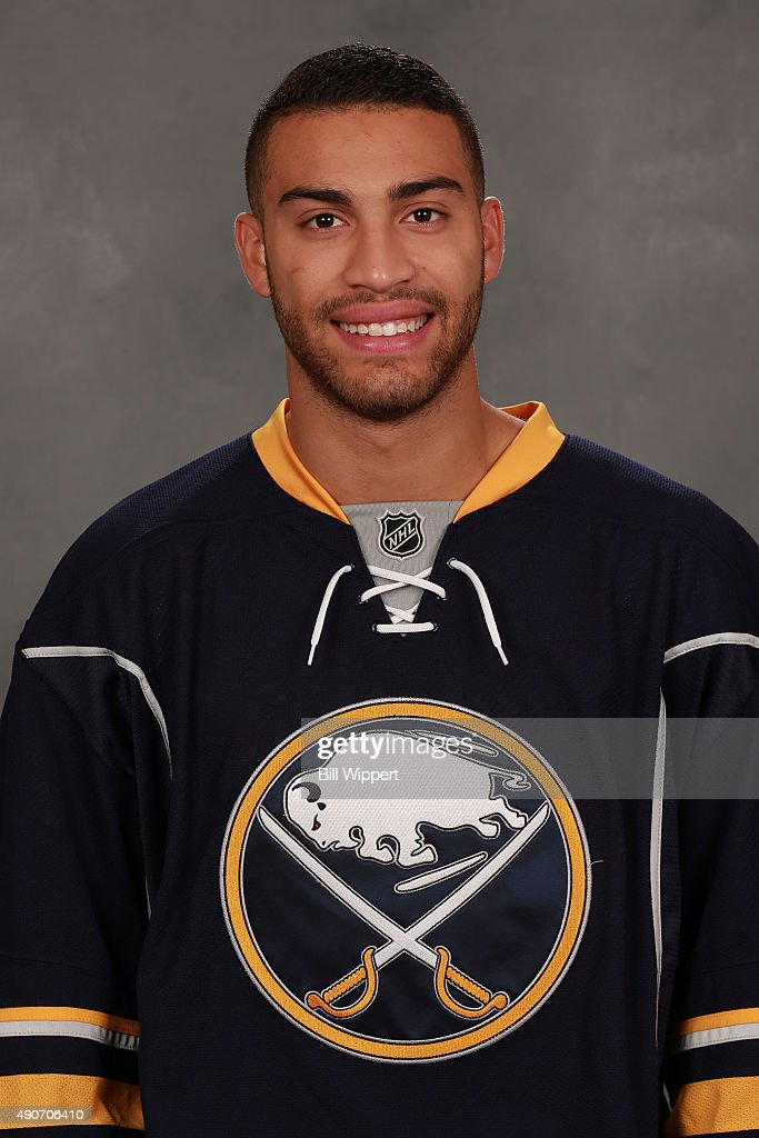 Justin Bailey of the Buffalo Sabres poses for his official headshot for the 2015-2016 season on September 17, 2015 at the First Niagara Center in Buffalo, New York.