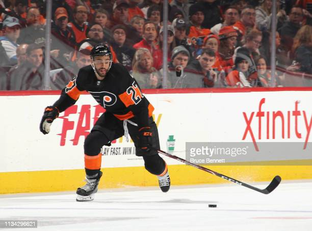 Justin Bailey of the Philadelphia Flyers skates against the Washington Capitals at the Wells Fargo Center on March 06 2019 in Philadelphia...