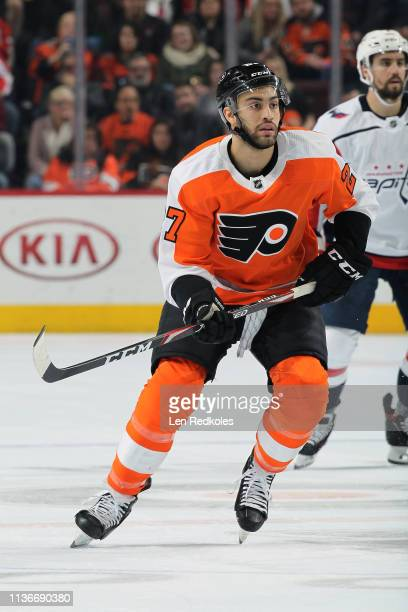 Justin Bailey of the Philadelphia Flyers skates against the Washington Capitals on March 14 2019 at the Wells Fargo Center in Philadelphia...