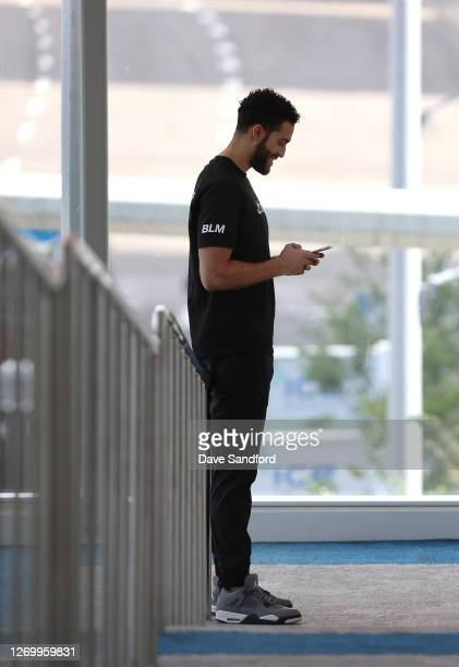 Justin Bailey of the Vancouver Canucks takes a walk in the Edmonton Bubble at Rogers Place on August 31, 2020 in Edmonton, Alberta.