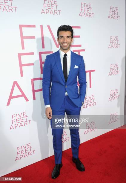Justin Baldoni attends the Five Feet Apart Los Angeles premiere on March 07 2019 in Los Angeles California
