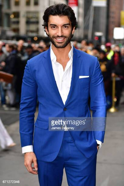 Justin Baldoni leaves Variety's Power of Women New York luncheon at Cipriani Midtown on April 21 2017 in New York City