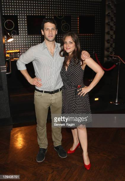 Justin Bartha and Anna Strout of Urban Arts Partnership attend the 2011 Urban Arts Partnership Prom Party at The Edison Ballroom on June 8 2011 in...