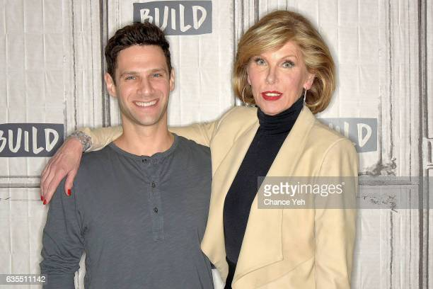 Justin Bartha and Christine Baranski attend Build series to discuss 'The Good Fight' at Build Studio on February 15 2017 in New York City