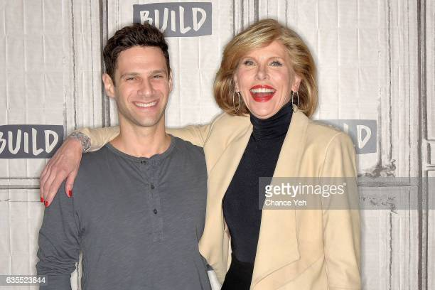 Justin Bartha and Christine Baranski attend Build series to discuss The Good Fight at Build Studio on February 15 2017 in New York City