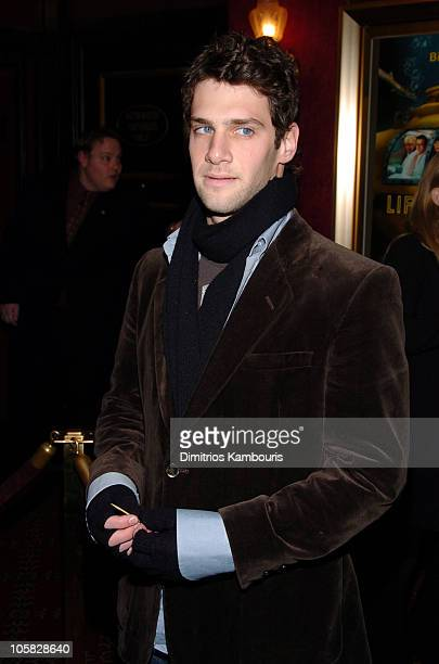 "Justin Bartha during ""The Life Aquatic with Steve Zissou"" New York Premiere - Inside Arrivals at Ziegfeld Theater in New York City, New York, United..."