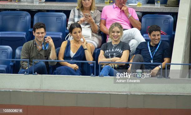 Justin Bartha Lia Smith Jenny Mollen Jason Biggs at Day 12 of the US Open held at the USTA Tennis Center on September 7 2018 in New York City