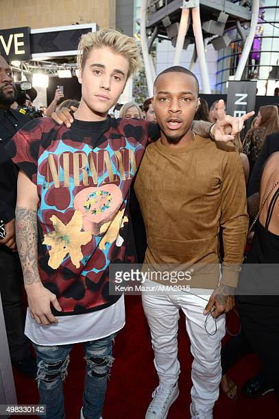 Justin Bieber and Bow Wow attend the 2015 American Music Awards at Microsoft Theater on November 22 2015 in Los Angeles California