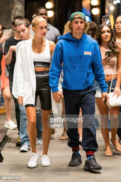 Justin Bieber and Hailey Baldwin are seen in Brooklyn on July 12 2018 in New York City