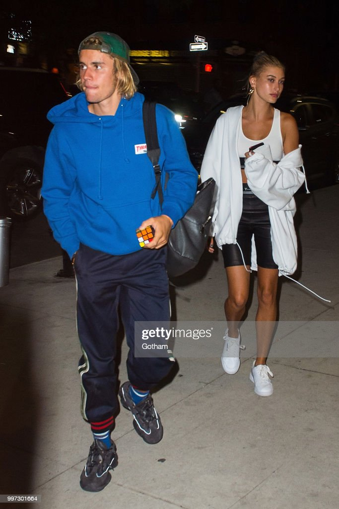 Justin Bieber and Hailey Baldwin are seen in Brooklyn on July 12, 2018 in New York City.
