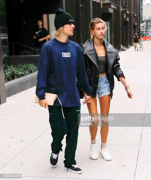 Justin Bieber and Hailey Baldwin are seen on September 14 2018 in New York City