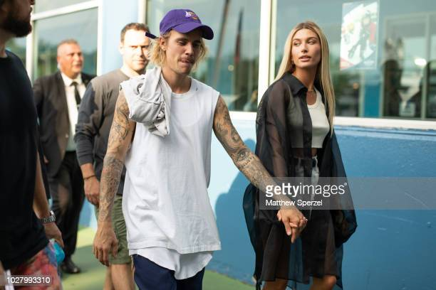 Justin Bieber and Hailey Baldwin are seen on the street attending John Elliott during New York Fashion Week SS19 on September 6 2018 in New York City