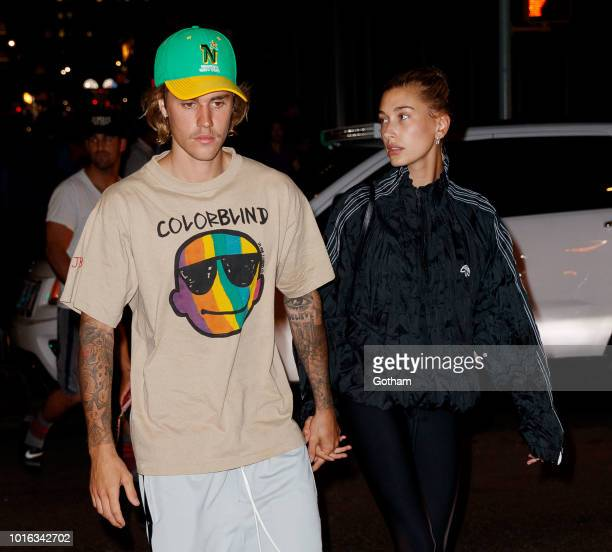 Justin Bieber and Hailey Baldwin are seen walking on August 13 2018 in New York City