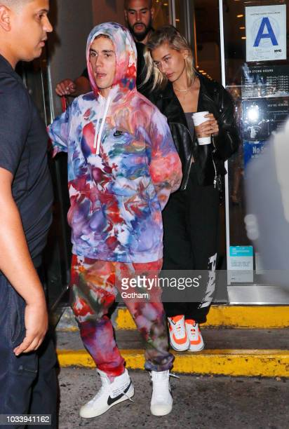 Justin Bieber and Hailey Baldwin go to Starbucks on September 15 2018 in New York City